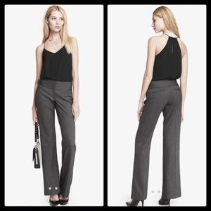 Express Wide Waistband Charcoal Gray Editor Pant